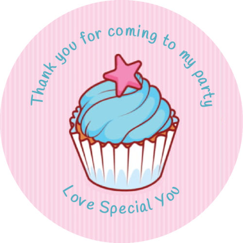 Cupcake Thank You Sticker